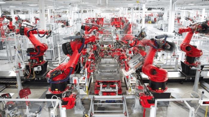 Automação industrial da fábrica da Tesla